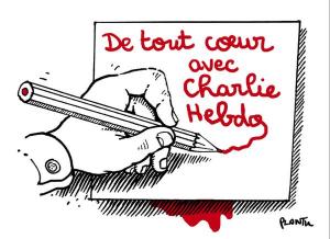 De tout coeur avec Charlie Hebdo Plantu