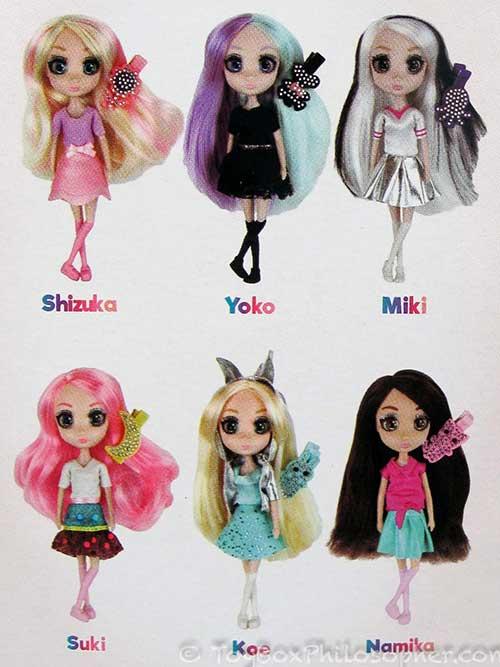 Shibajuku Girls Shiba-cuties mini dolls