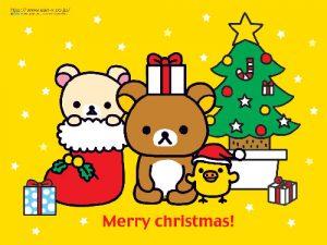 Rilakkuma december christmas